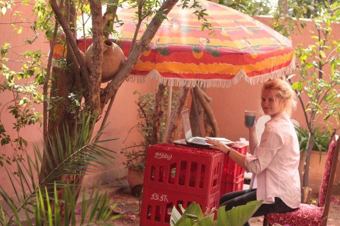 morocco, marokas, freelancer, blondie, girl, garden