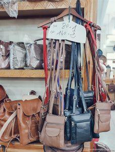 Ensemble Artisanal moroccan leather bags purse