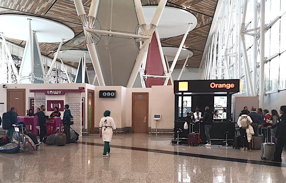 marrakech airport sim card internet