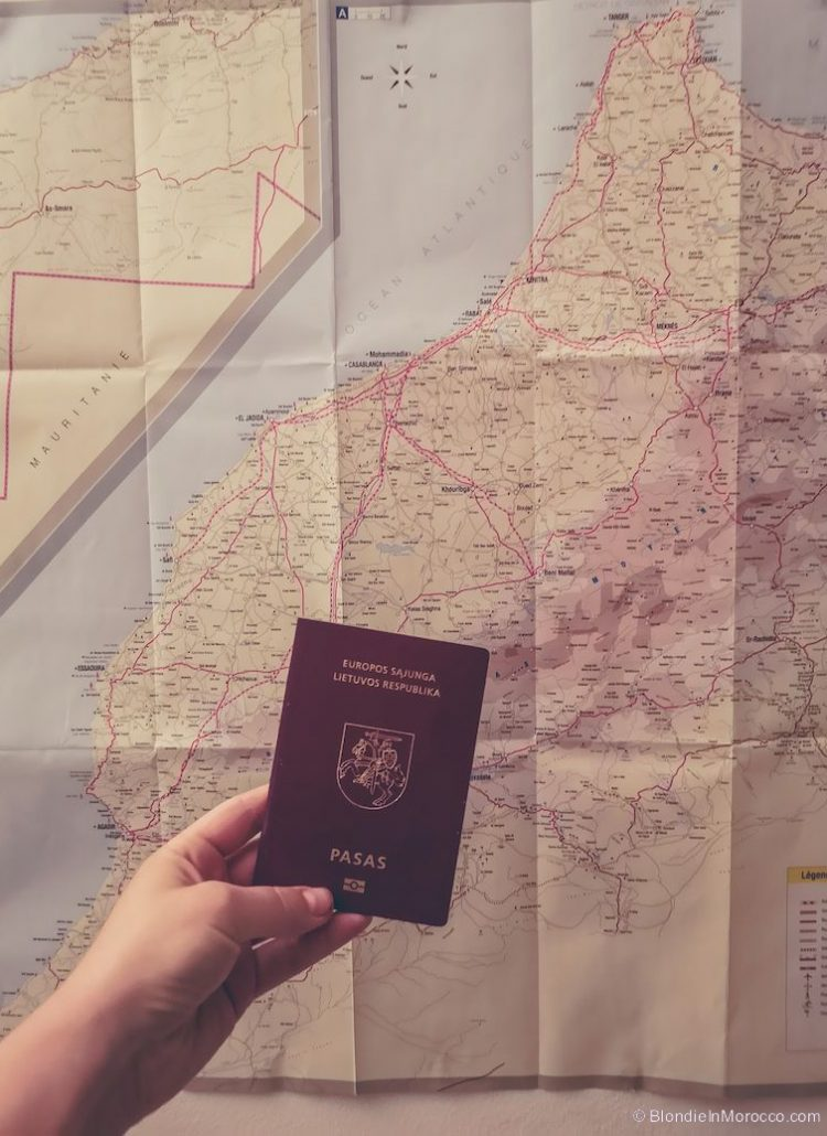 visa morocco passport map
