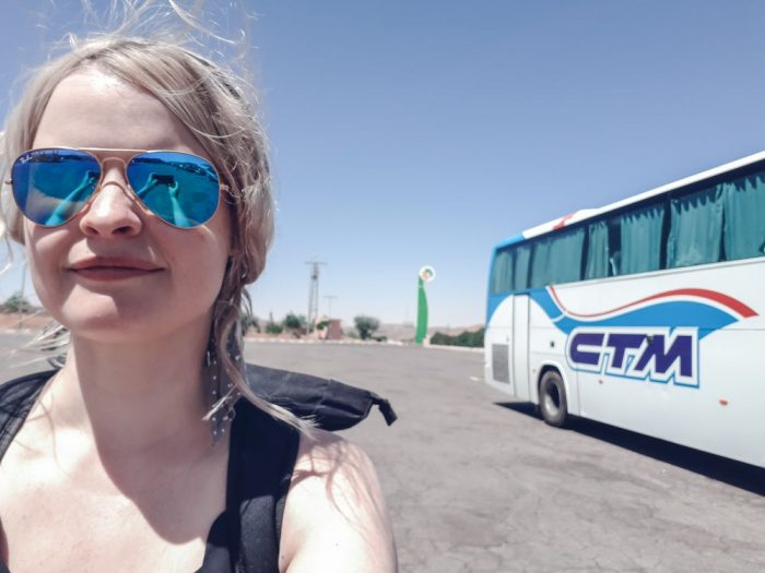 morocco bus ctm girl road