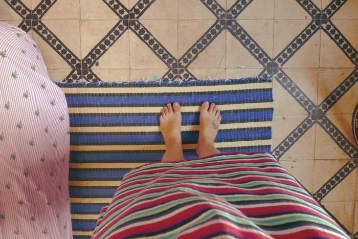 colors stripes dress carpet morocco