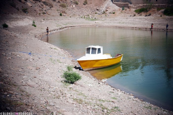 boat, lake, water, scenery, morocco