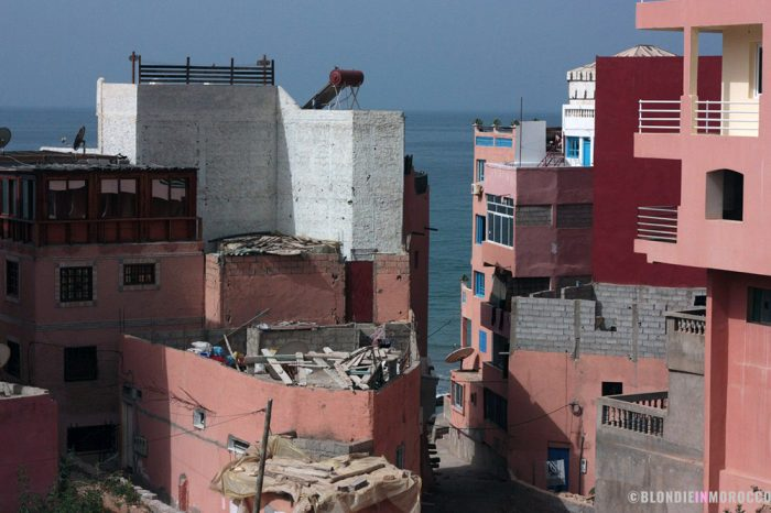 taghazout, houses, sea, village