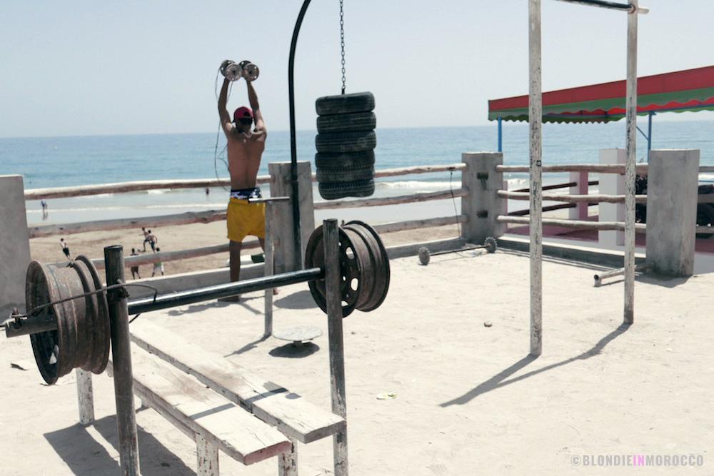 Taghazout Morocco gym man