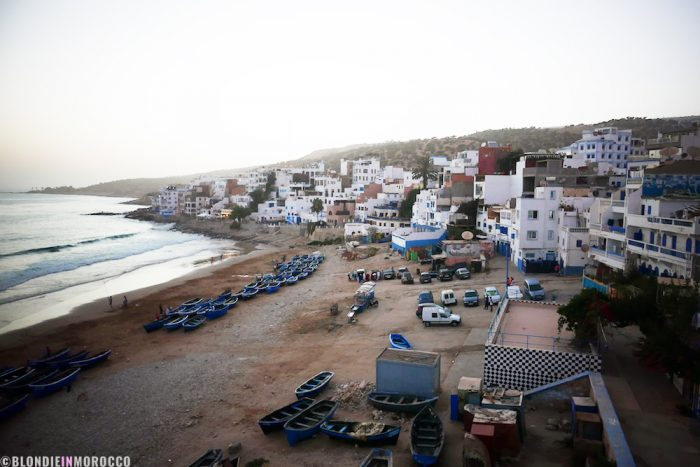 beach, taghazout, water, village