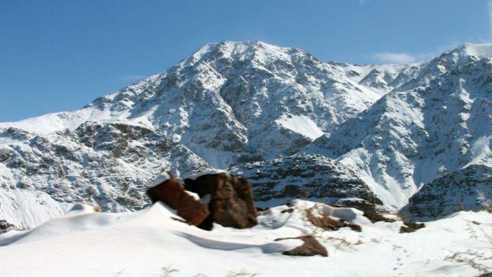 snow morocco mountains forest Oukaïmeden