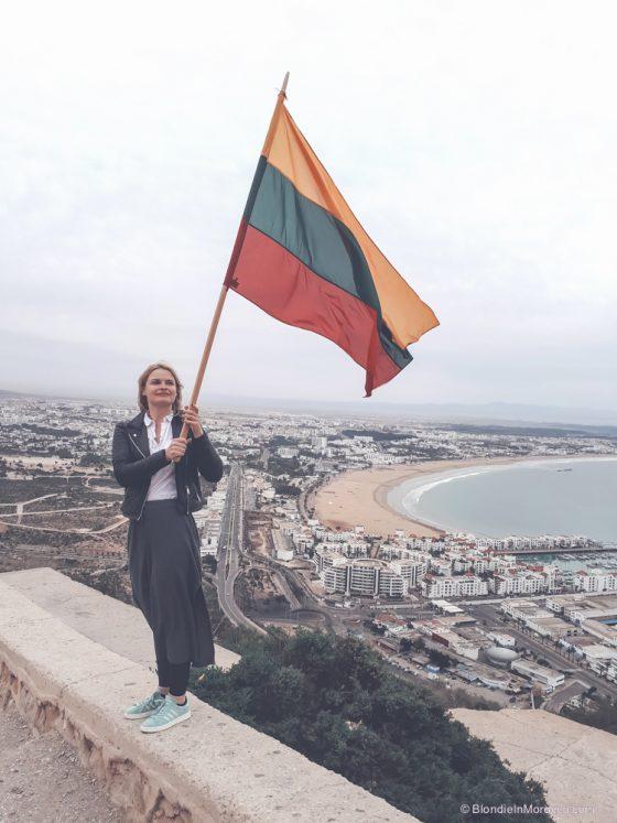 agadir morocco kasbah lithuanian flag
