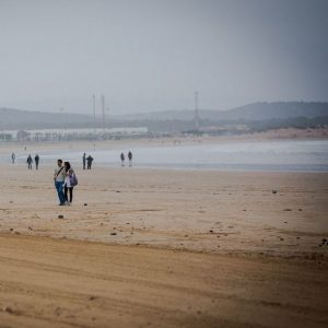essaouira, beach, ocean, walk, people
