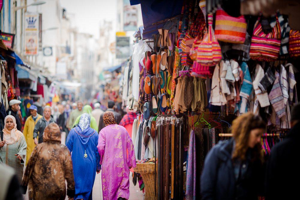 essaouira, medina, street, people, shops