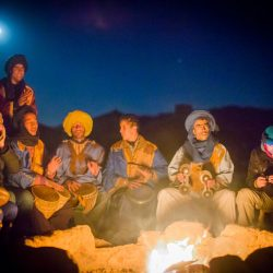 desert, camp, night, light, fireplace, music, people, musicians