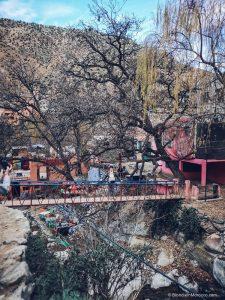 ourika valley, bridge, valley, mountains