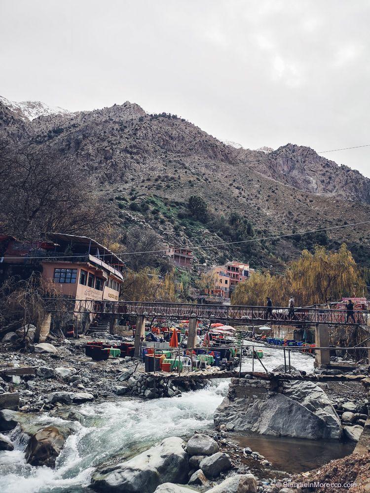 Setti Fatma, river, bridge, mountains, morocco