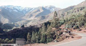 morocco view road mountains high atlas