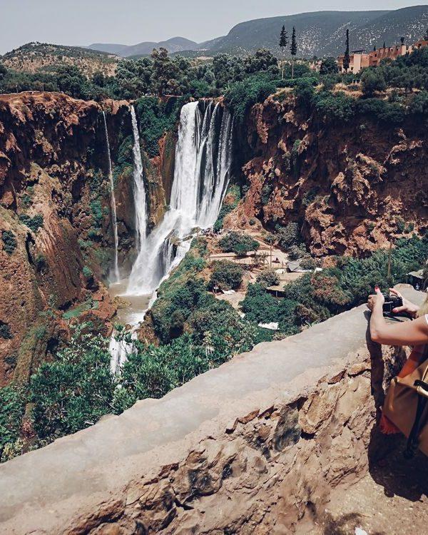 ouzoud, waterfall, morocco, mountain, girl