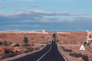 road morocco desert valley