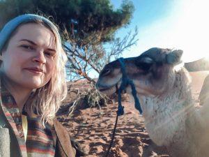 desert morocco camel girl selfie