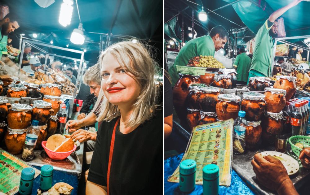 food morocco jemaa el fna stand tangia