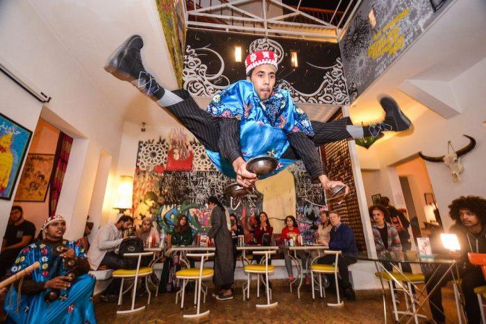 cafe clock marrakech dancer gnowa