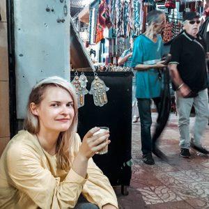 coffee cafe morocco drinks street girl medina