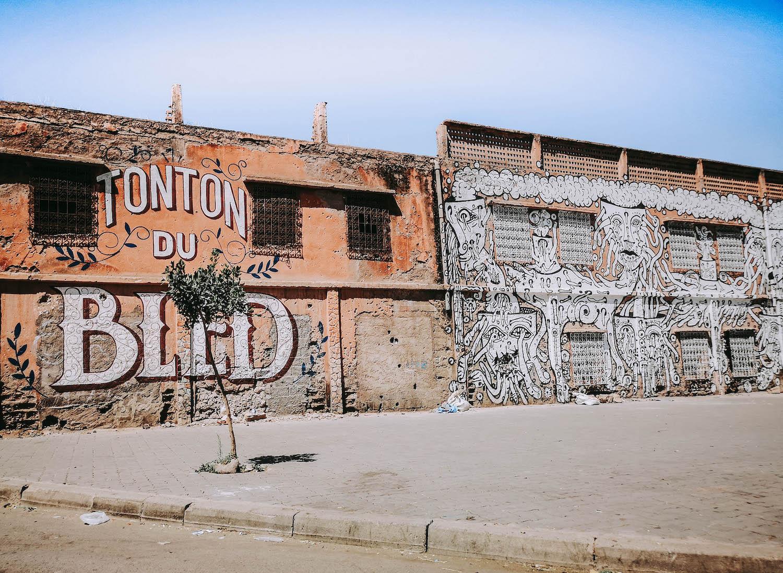 tameslouht graffitti morocco wall street art
