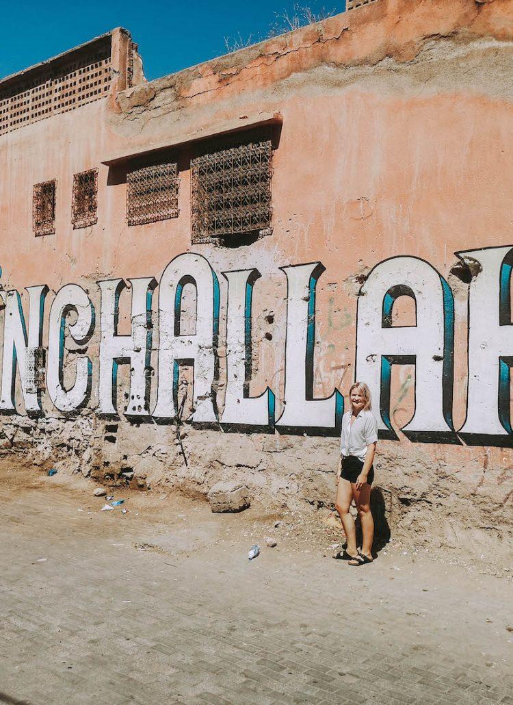 Off the beaten path in Morocco. Graffiti in Tameslohte