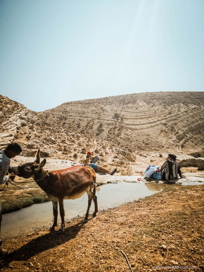 Sidi M'Barek waterfalls morocco nature mountains dunes donkey