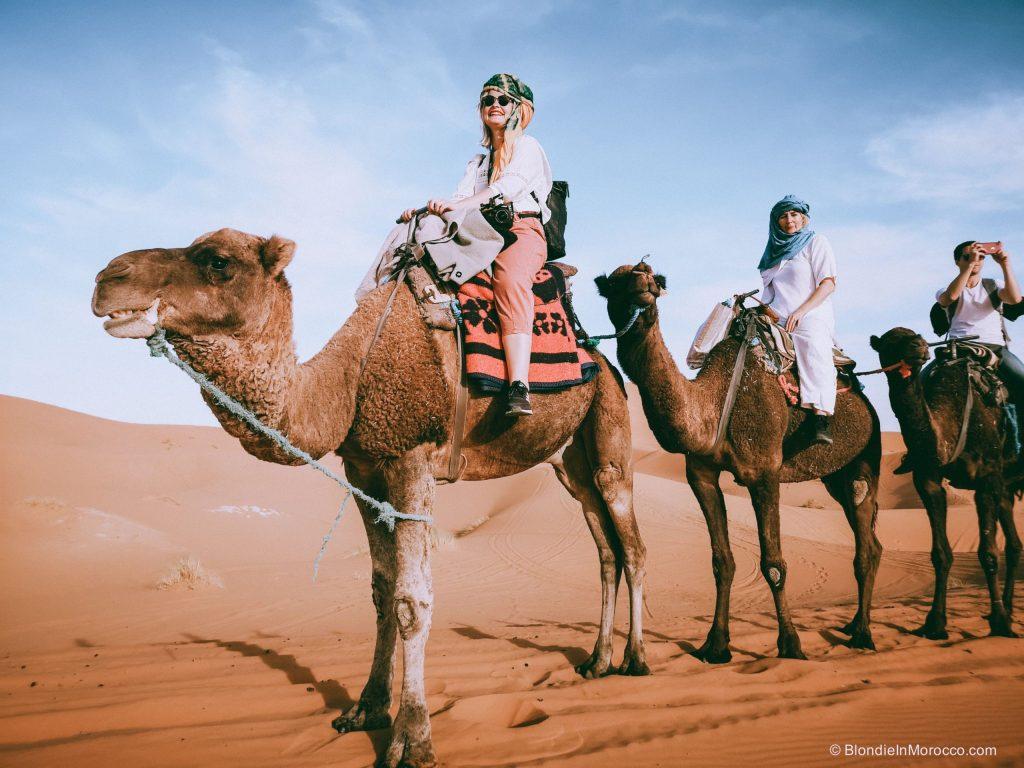 sahara desert morocco camel clothes