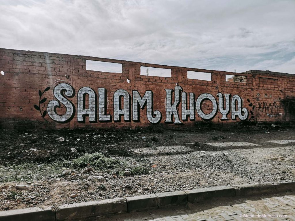 Tameslohte graffiti morocco wall