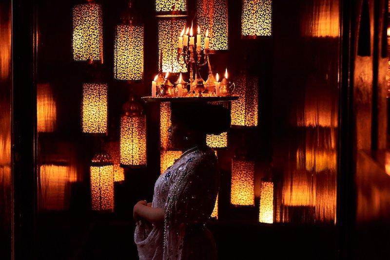 azar marrakech restaurant candles candle belly dancer