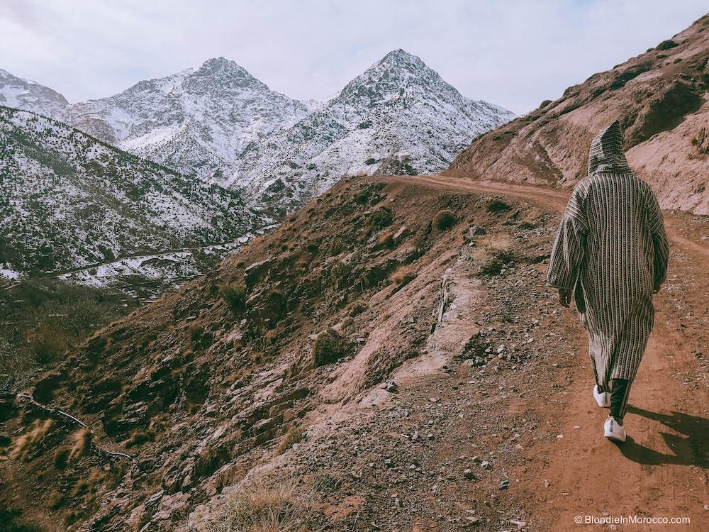 Imlil Morocco mountains High Atlas snow hiking