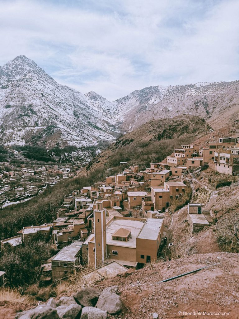 Imlil Morocco mountains High Atlas snow hiking