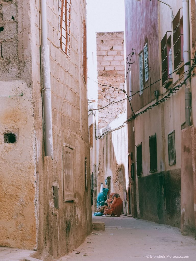 bhalil village morocco houses street women