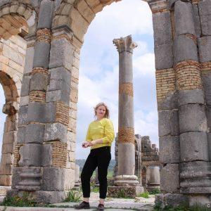 volubilis morocco roman ruins ancient archeological site