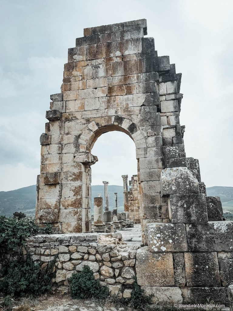 volubilis morocco roman ruins ancient archeological site
