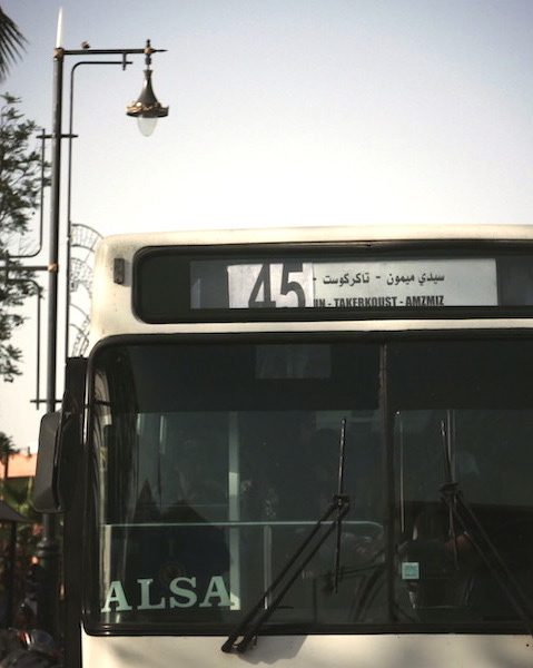 Tips on taking local city bus in Marrakech