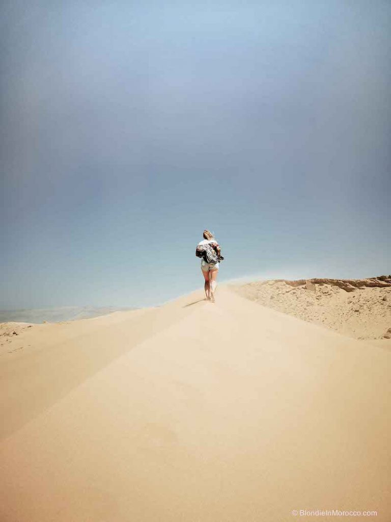 Taboga dunes morocco sand girl